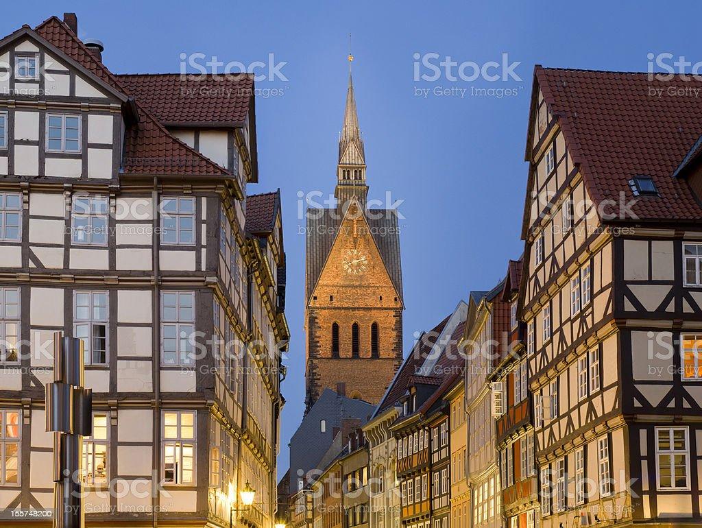 Germany. Hannover. Altstadt.Marktkirche. stock photo