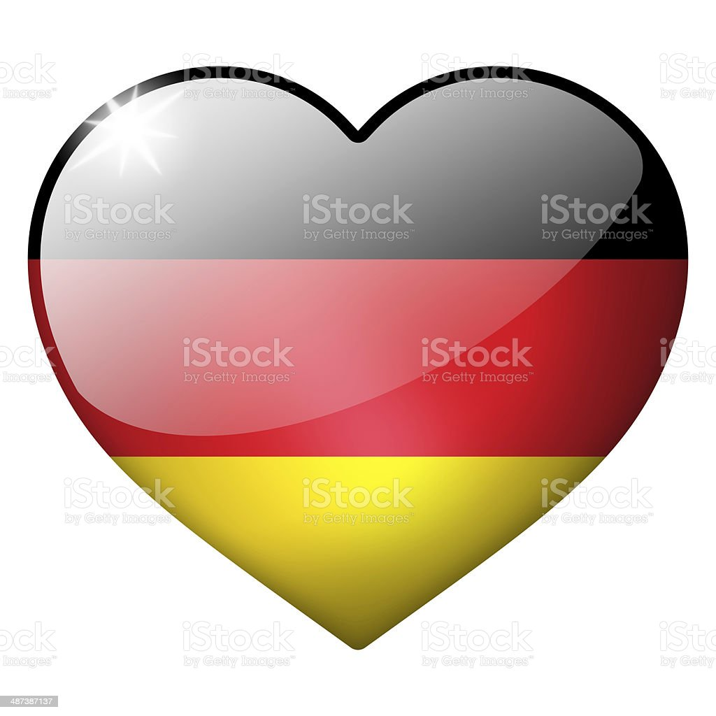 germany heart button stock photo