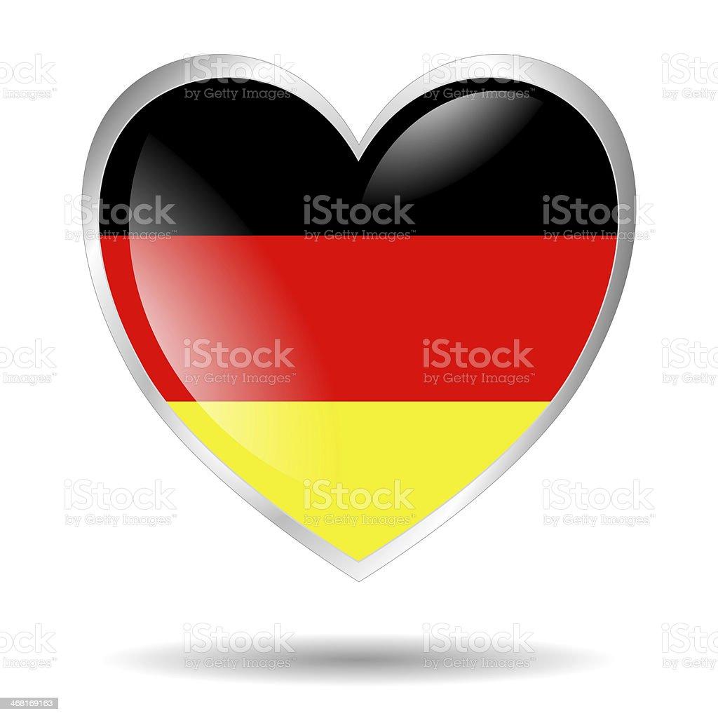 germany heart royalty-free stock photo