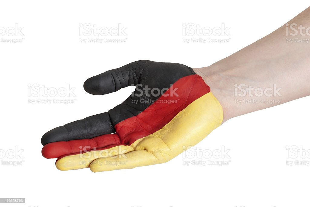 germany in helping gesture royalty-free stock photo
