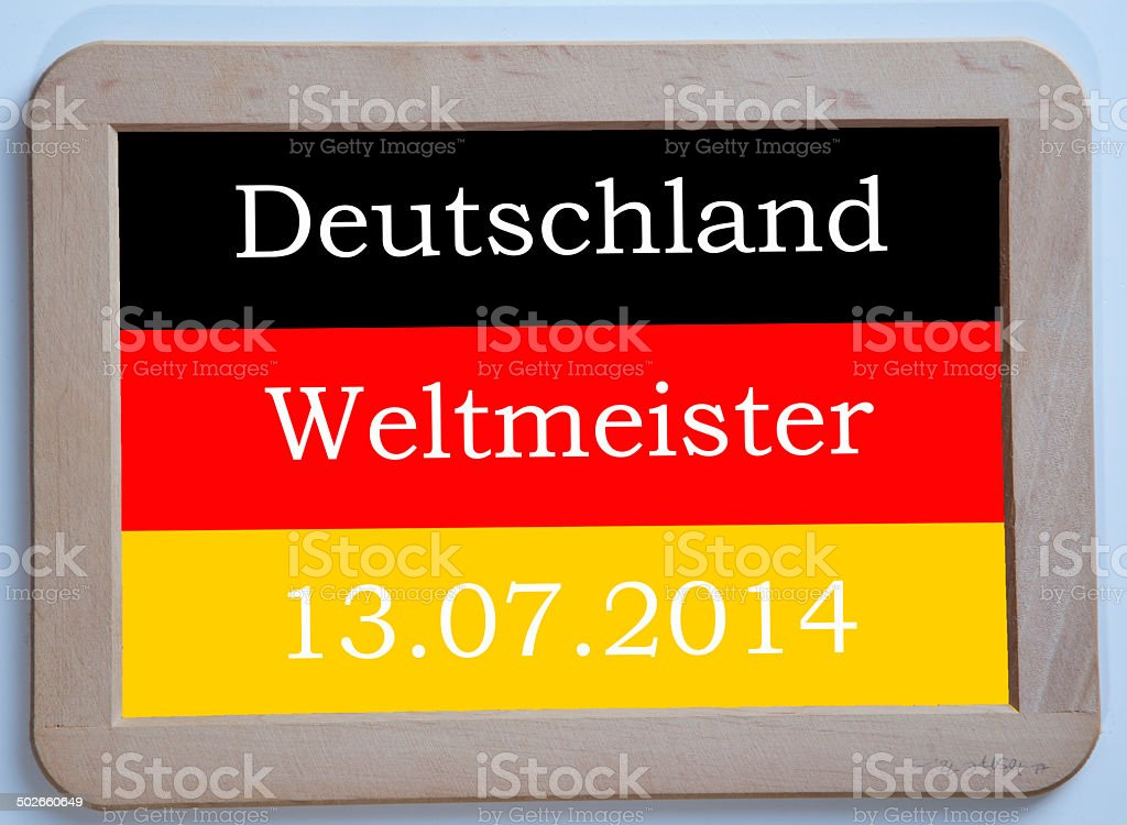 Germany is soccer world champion 2014 stock photo