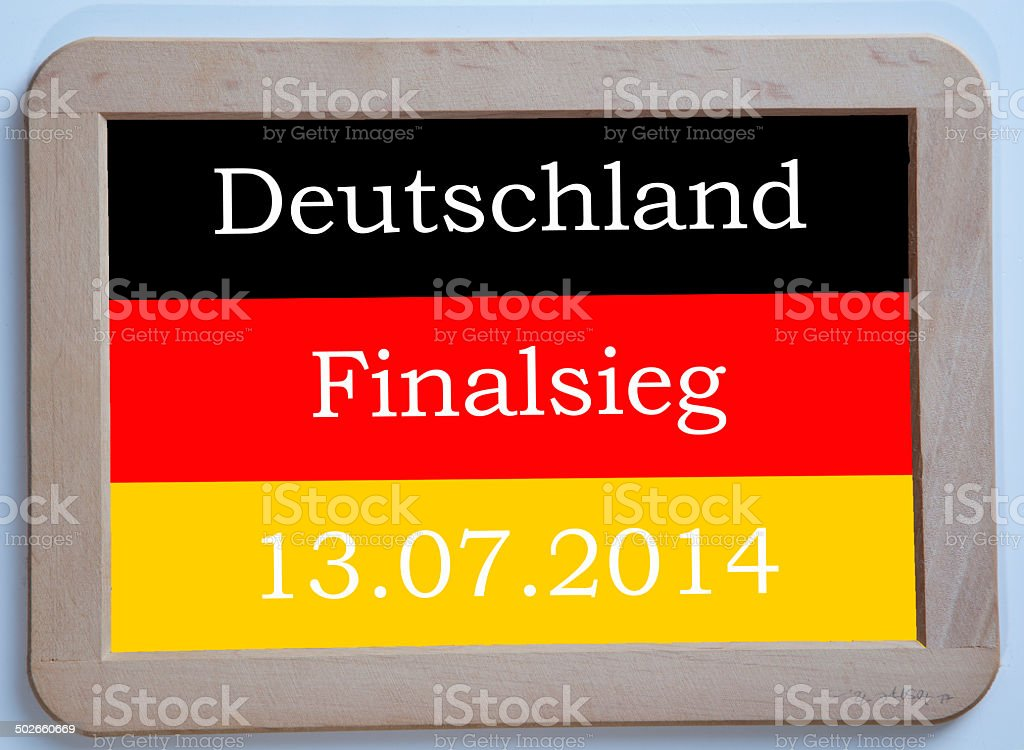 Germany is soccer world champion 2014 royalty-free stock photo