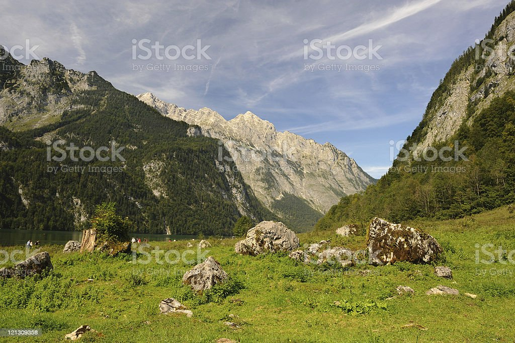 Germany Lake K?nigssee Landscape Summer near Obersee royalty-free stock photo