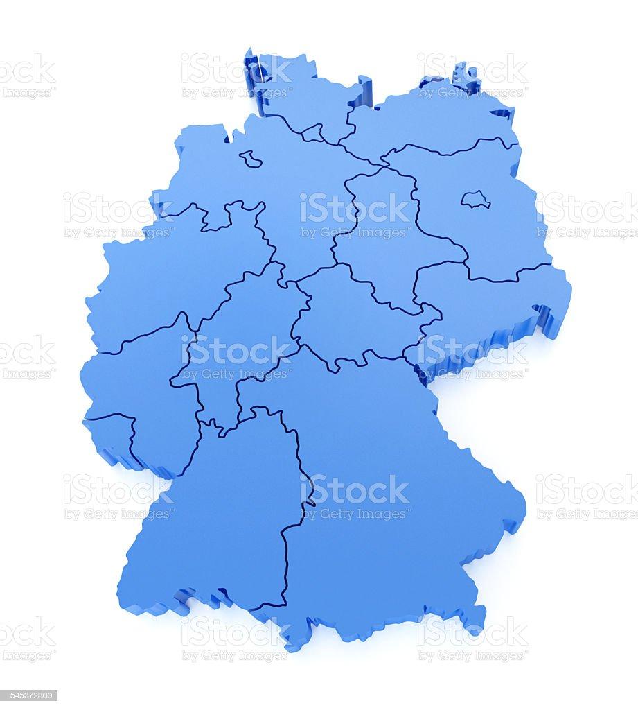 Germany Map stock photo