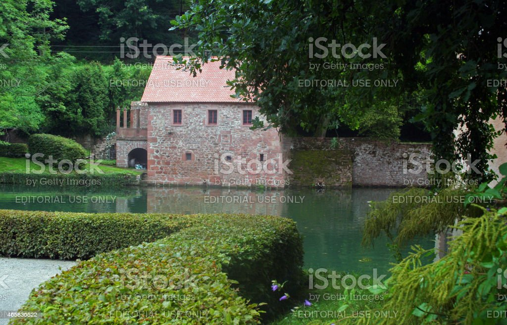Germany: Mespelbrunn Castle stock photo