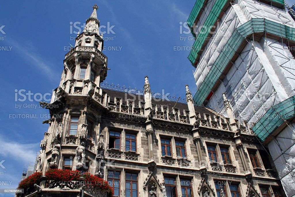 Germany: New Town Hall in Munich stock photo