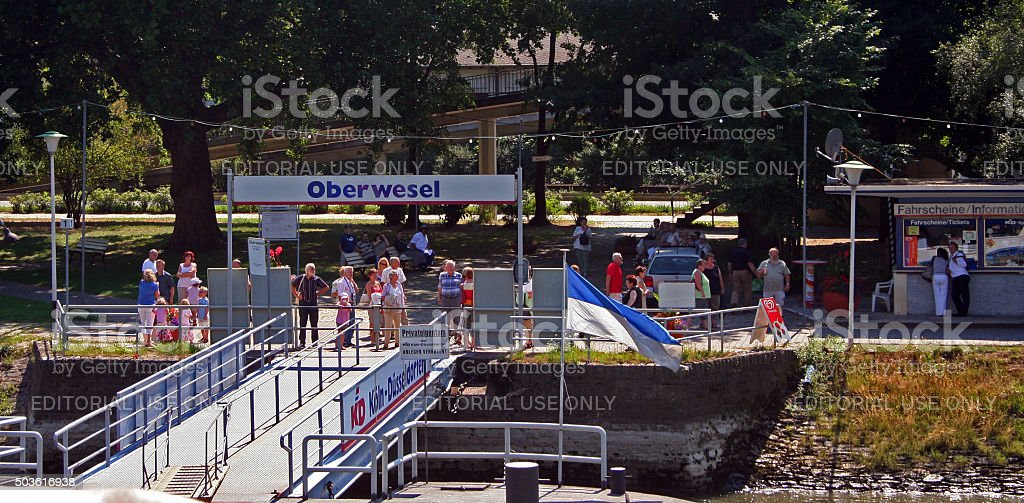 Germany: Oberwesel stock photo