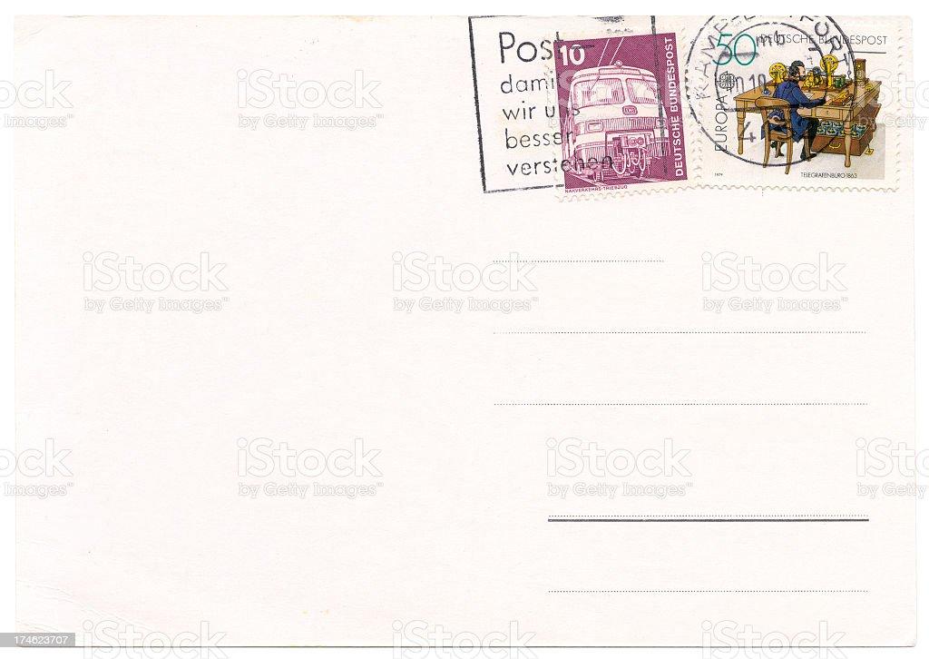 Germany postcard stock photo