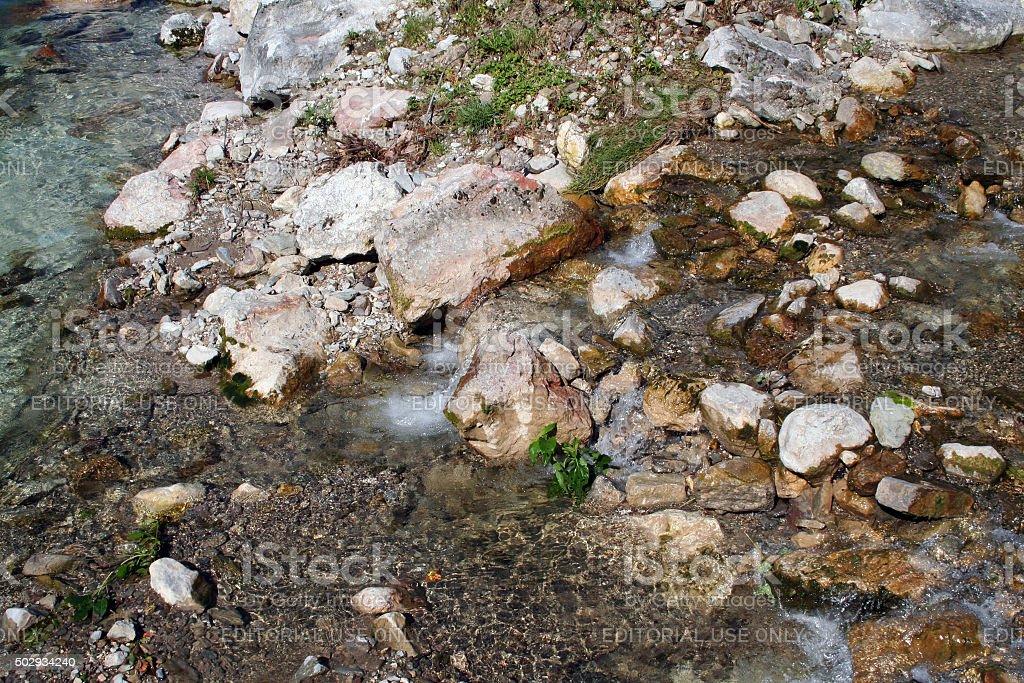 Germany: Ramsauer Ache River stock photo