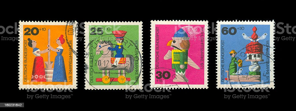 Germany stamp royalty-free stock photo