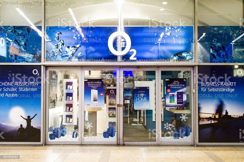 O₂ Germany Store stock photo