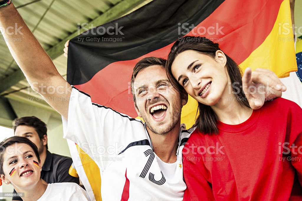 Germany supporters in the stadium royalty-free stock photo