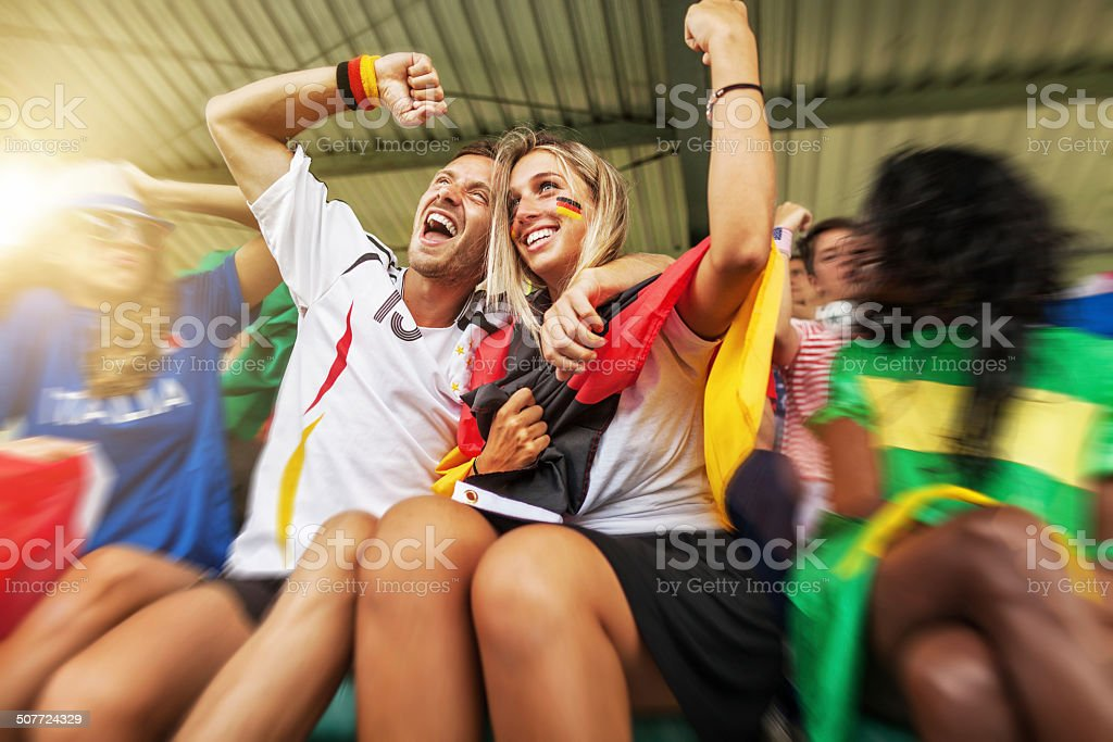 Germany supporters soccer world campions stock photo