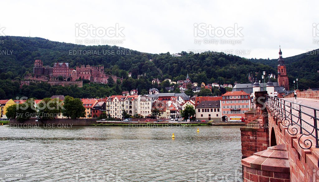 Germany: The Old Bridge at Heidelberg stock photo