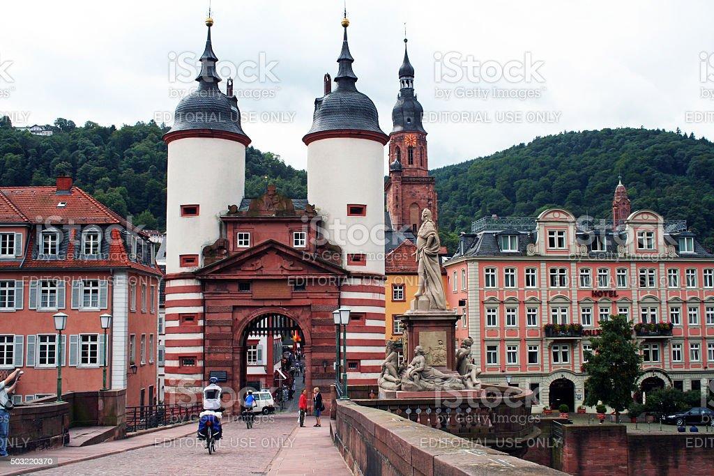 Germany: The Old Bridge at Heidelberg stock photo