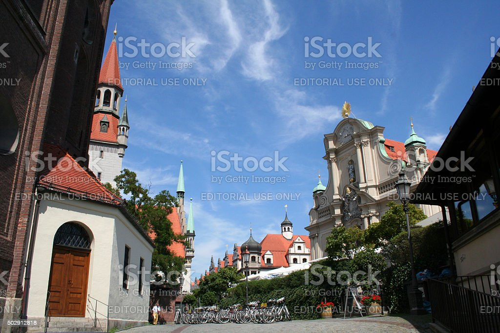 Germany: Viktualienmarkt in Munich stock photo