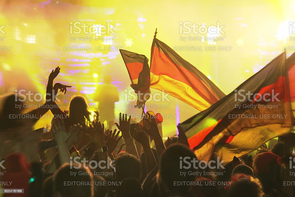 Germany wins: FIFA 2014 World Cup Champion Party, Berlin, Germany stock photo