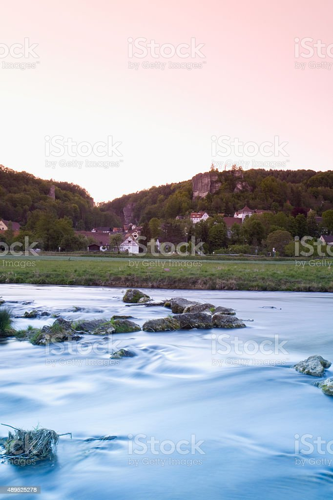 Germany,Bavaria,Wiesenttal stock photo