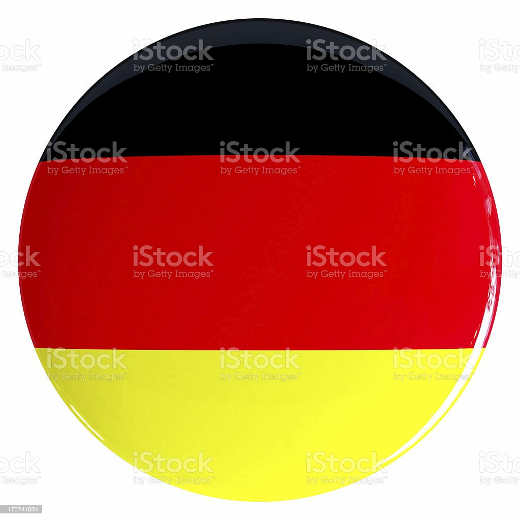 3D GERMANYFlag Button royalty-free stock photo