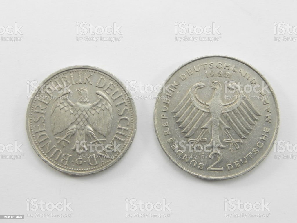 germay coins stock photo