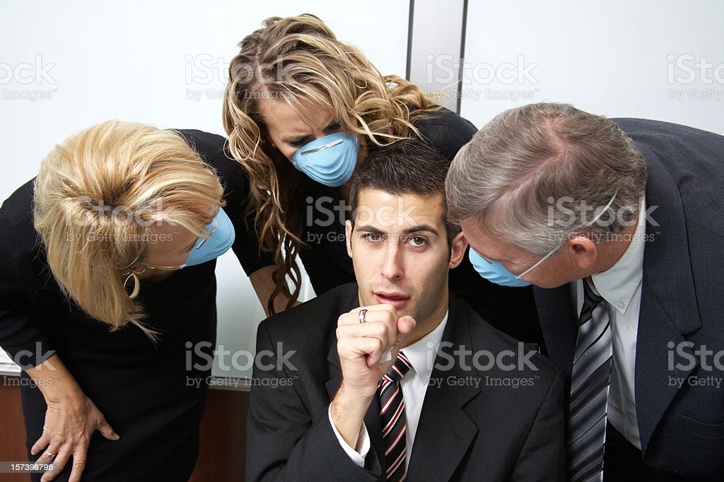 Germs in the Workplace royalty-free stock photo