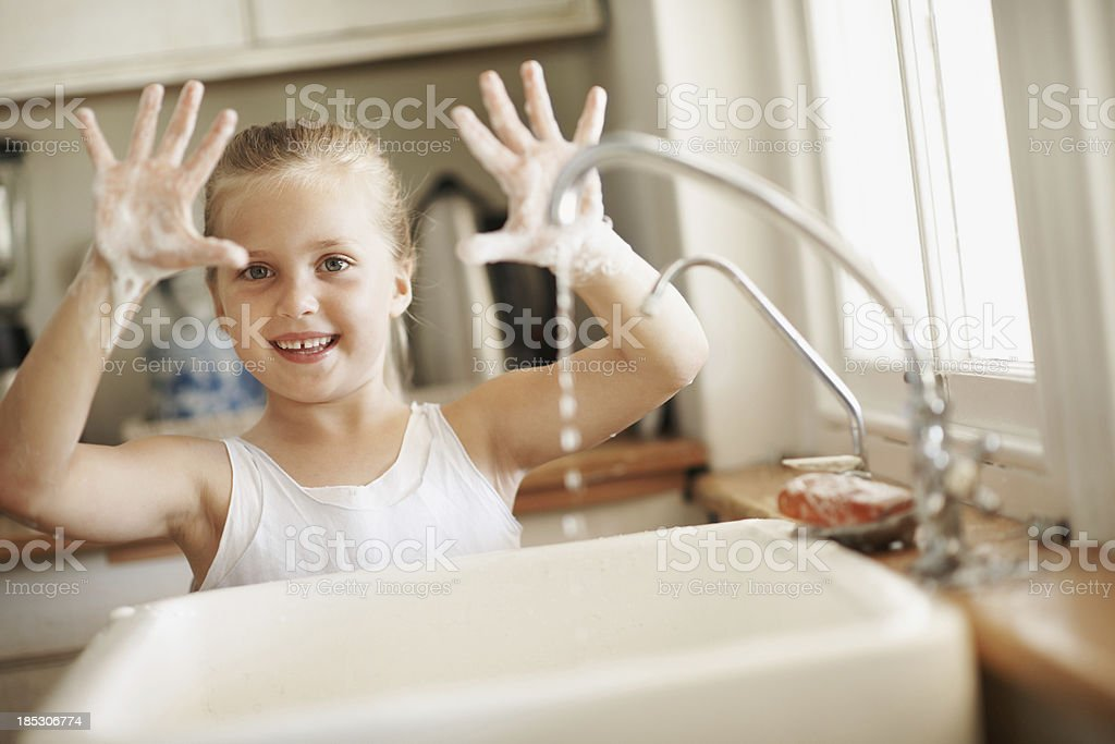 Germs won't get me now stock photo