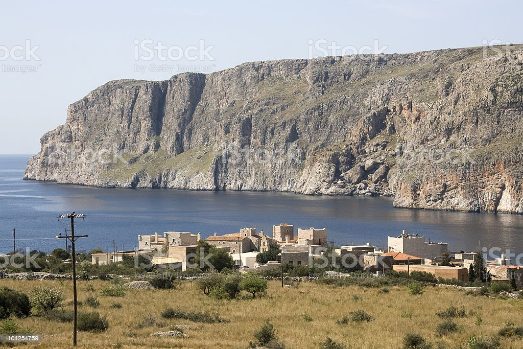 Gerolimenas - Remotest settlements in the Peloponnese stock photo
