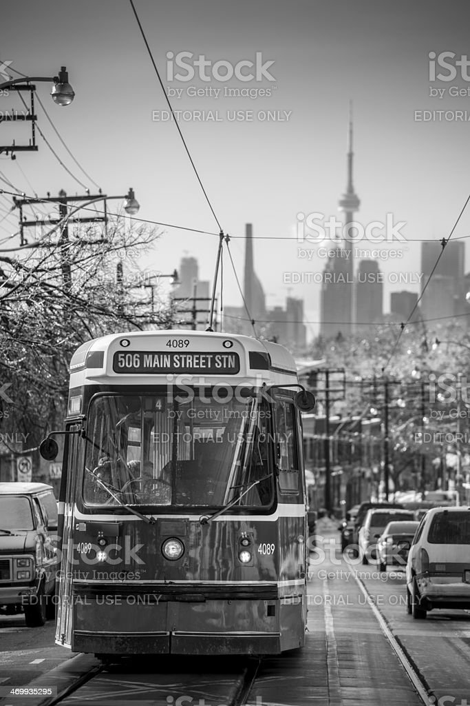 Gerrard Street after the Ice storm royalty-free stock photo