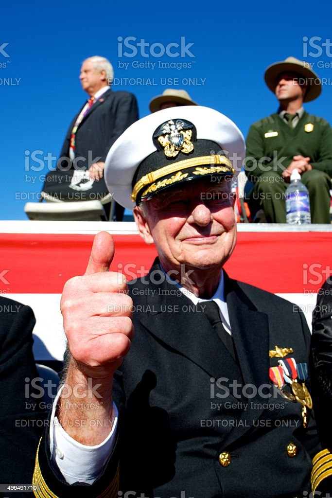 H.F. 'Gerry' Lenfest at Inaugural Philly Veterans Parade stock photo