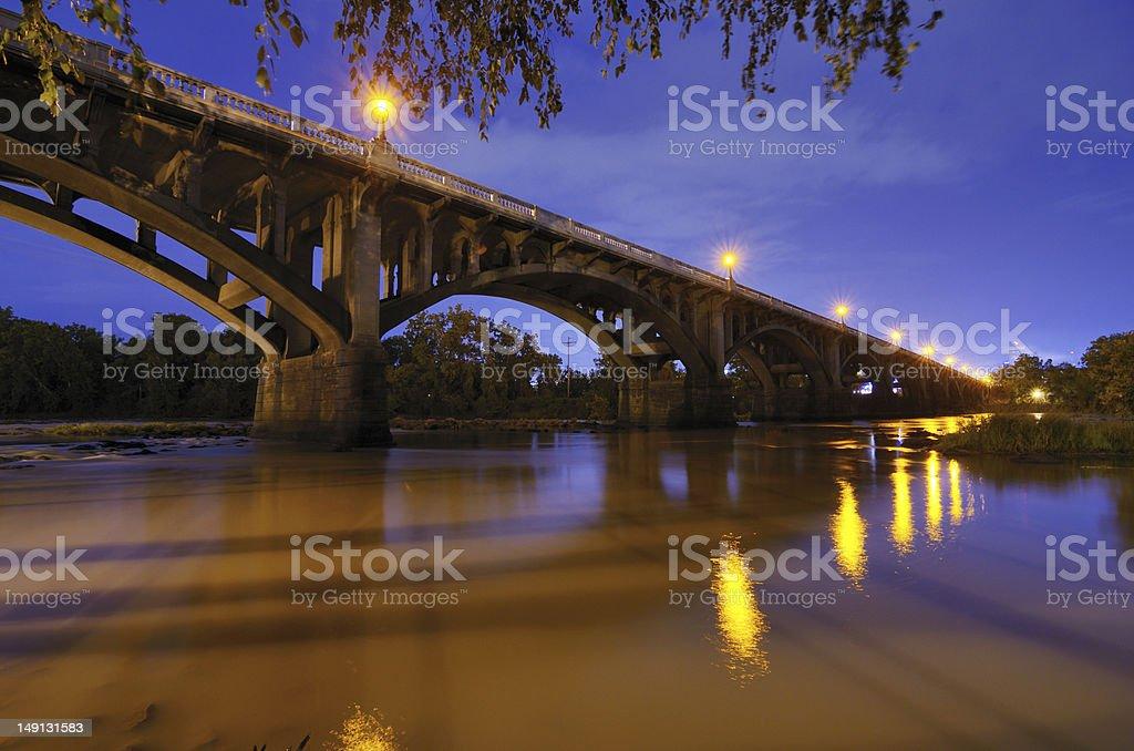 Gervais Street Bridge stock photo