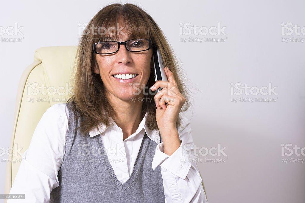 Gesch?ftsfrau beim Telefonieren stock photo