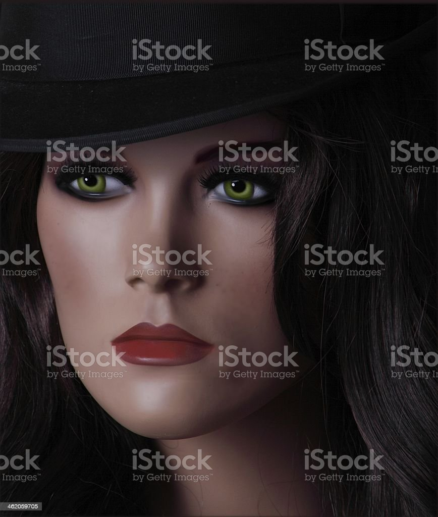 Gesicht einer Schaufensterpuppe royalty-free stock photo