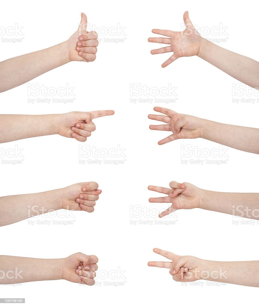 gesture communication signs royalty-free stock photo
