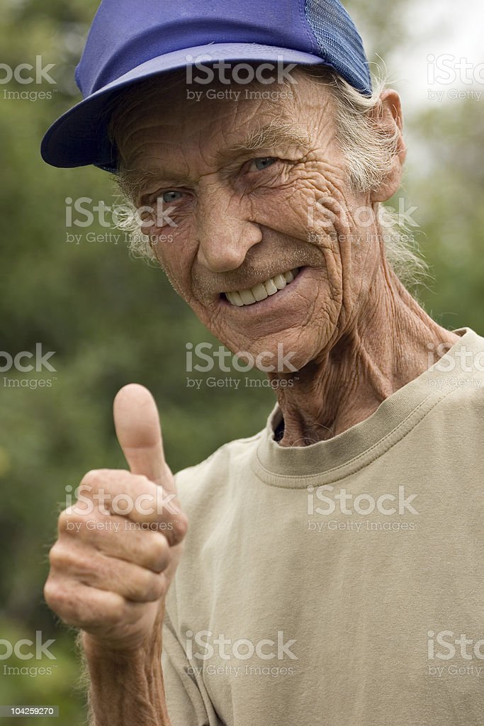 Gesture of the grandfather royalty-free stock photo