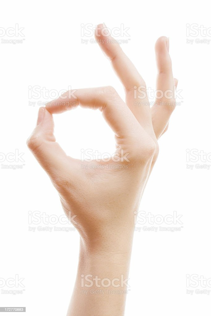 OK gesture royalty-free stock photo