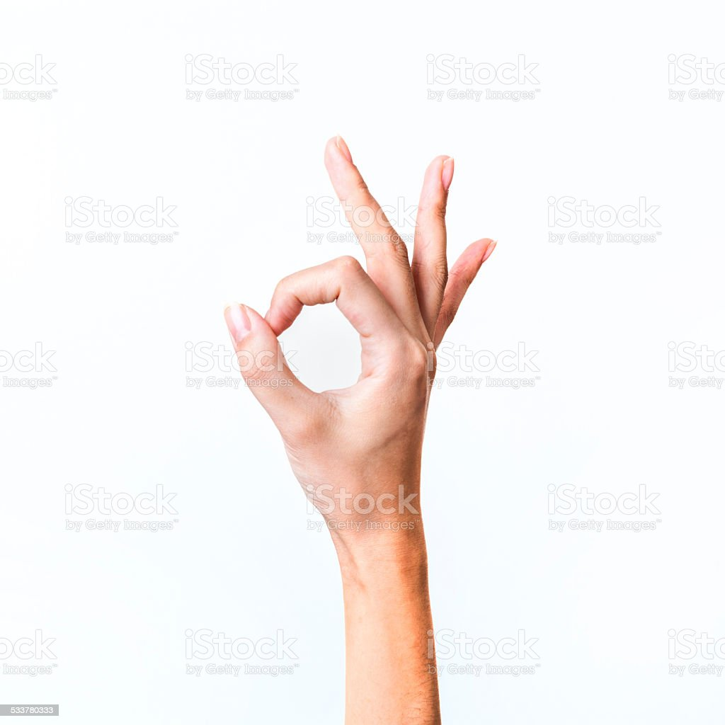 OK gesture stock photo