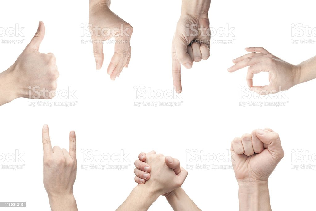 gesture set royalty-free stock photo