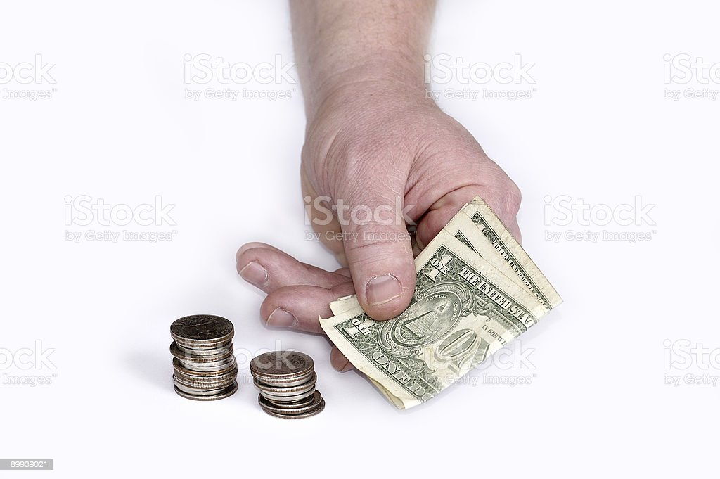 Gestures and the American money #1 royalty-free stock photo