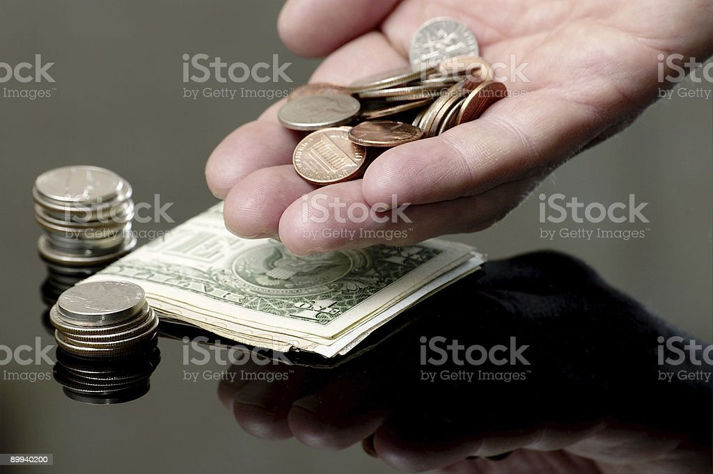 Gestures and the American money #4 royalty-free stock photo