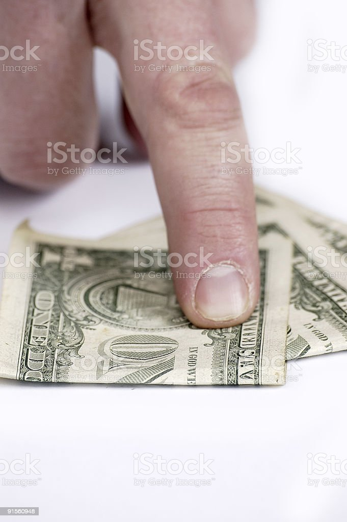 Gestures and the American money #3 royalty-free stock photo