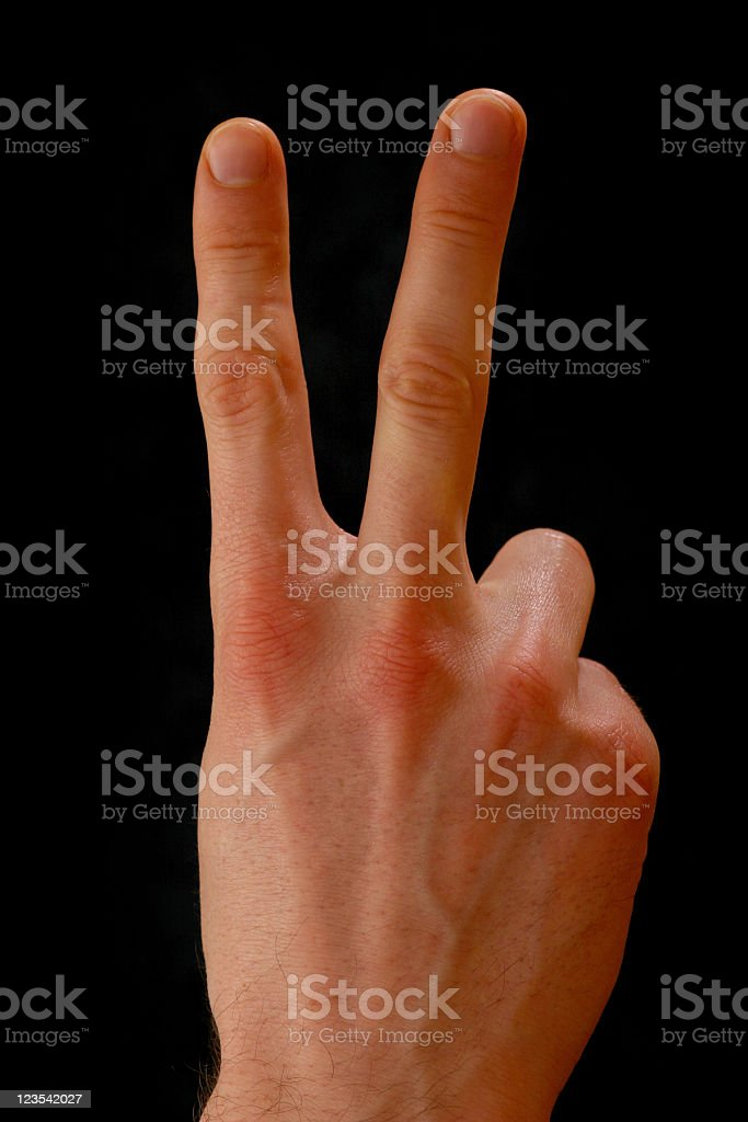 Gestures - victory stock photo