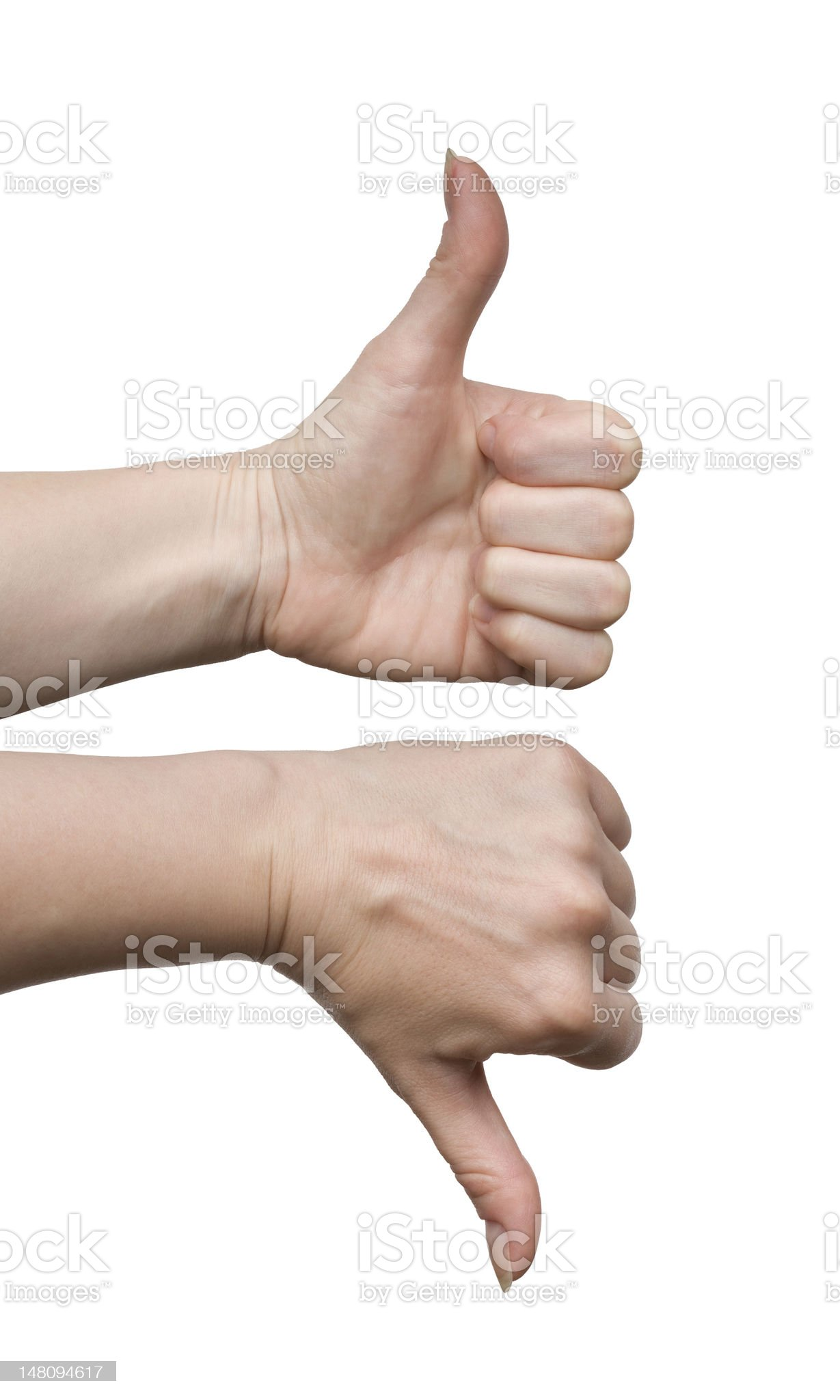 Gestures yes and no royalty-free stock photo