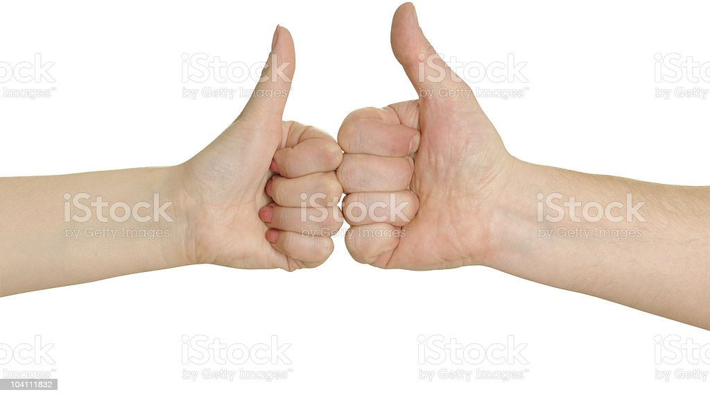 gesturing okay royalty-free stock photo