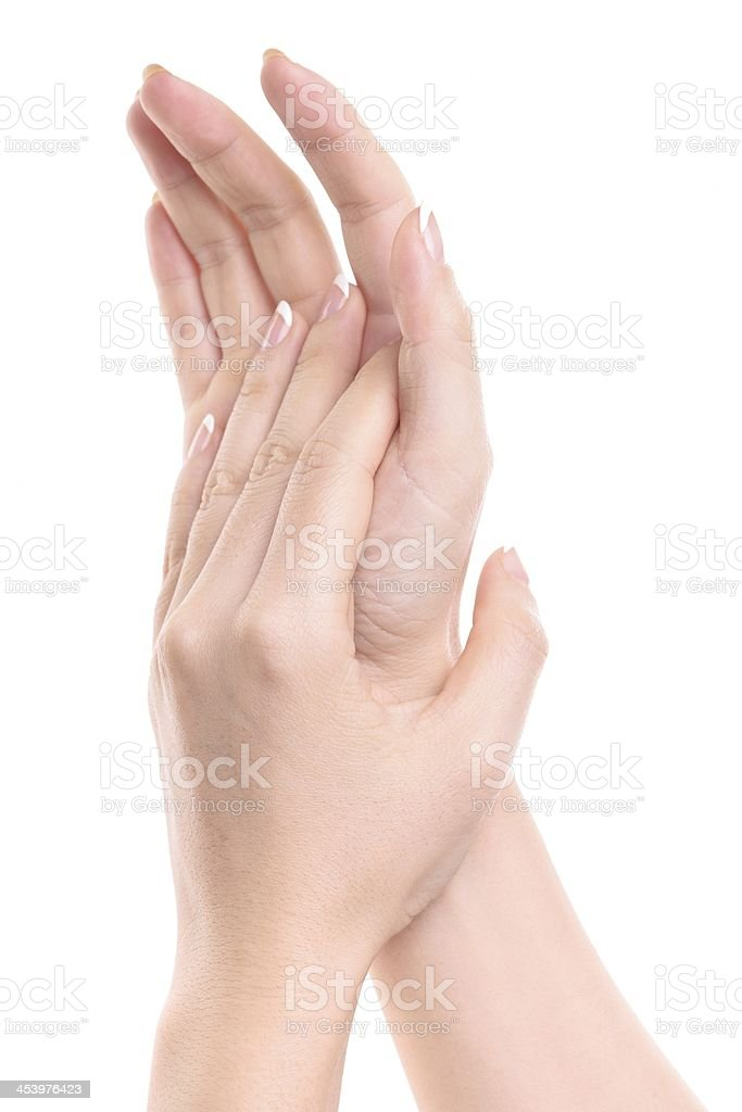 Gesturing royalty-free stock photo