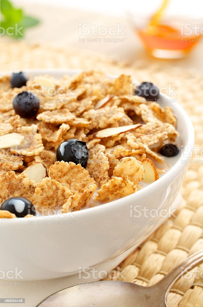 Gesunde Fr?hst?cksflocken - Healthy Breakfast Cereals stock photo