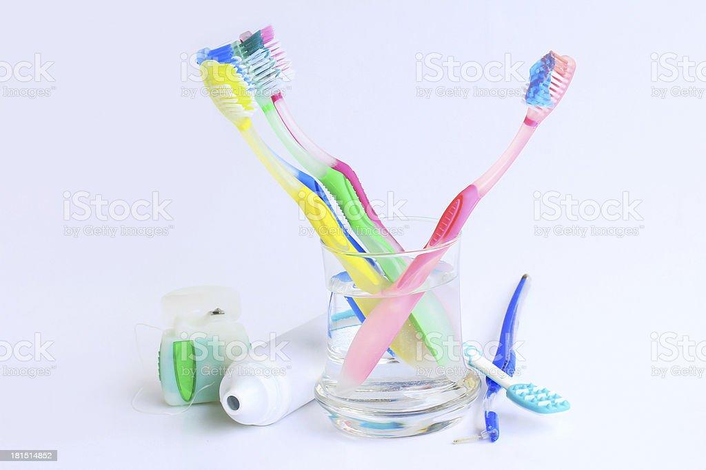 Gesunde Zahnpflege stock photo