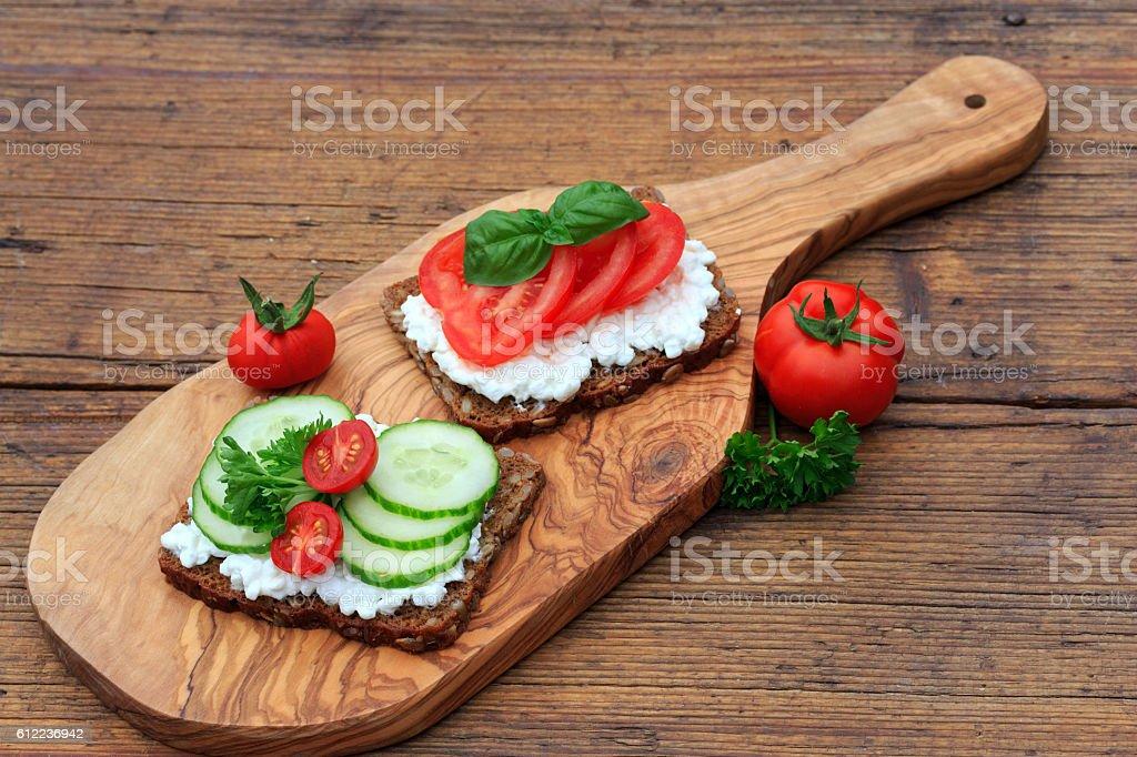 gesundes Abendbrot stock photo