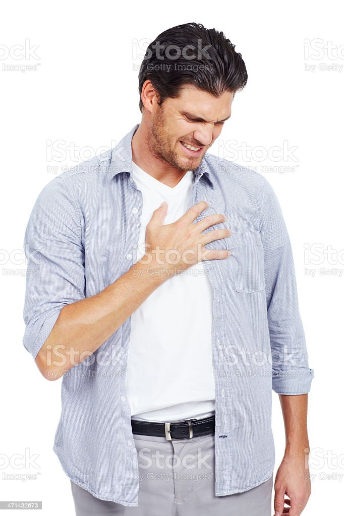 Get a grip on heartburn stock photo