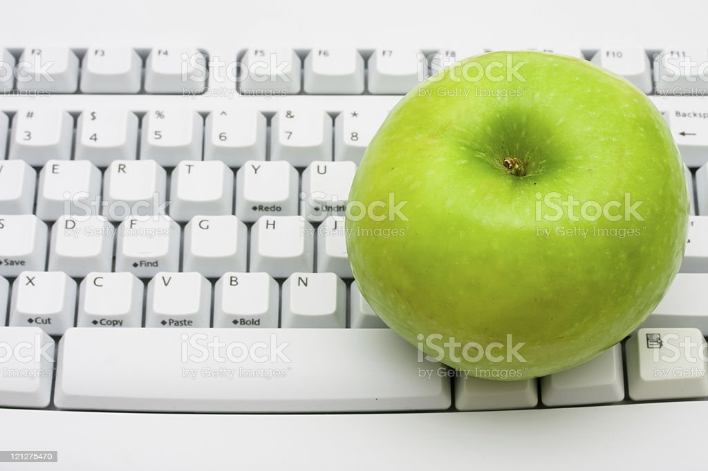 Get advice on healthy lifestyles online stock photo