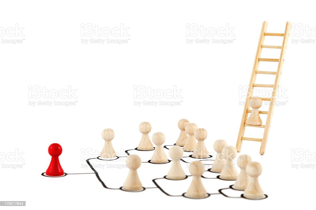get away from hierarchical organization royalty-free stock photo